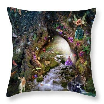 Fairy Hollow Throw Pillow