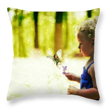 Fairy Hunting Throw Pillow