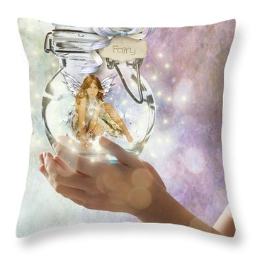 Fairy Throw Pillow by Juli Scalzi
