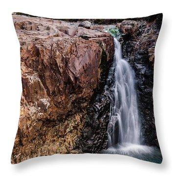 Fairy Pool Waterfall 2 Throw Pillow