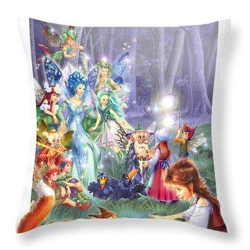 Fairy Princess Gathering Throw Pillow