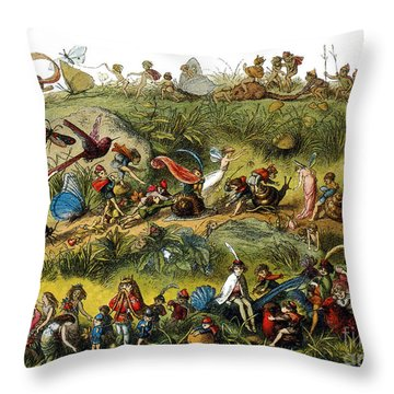 Fairy Procession Throw Pillow by Photo Researchers