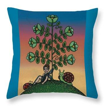 Fairy Series Tina Throw Pillow by Victoria De Almeida