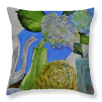 Throw Pillow featuring the painting Fairy Soda Fine Crackers by Beverley Harper Tinsley