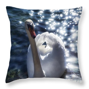 Fairy Swan Throw Pillow
