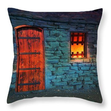Fairy Tale Cabin Throw Pillow
