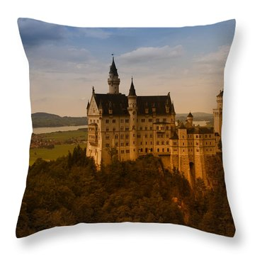 Fairy Tale Castle Throw Pillow by Miguel Winterpacht