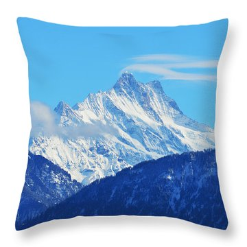 Fairy Tale In Alps Throw Pillow