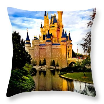 Fairy Tale Twilight Throw Pillow by Greg Fortier