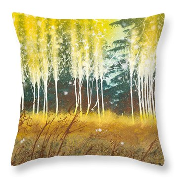 Fairy Trees Throw Pillow