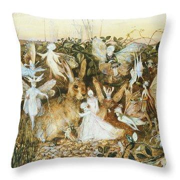 Fairy Twilight Throw Pillow