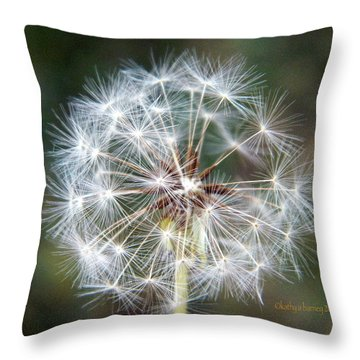 Fairy Umbrellas Throw Pillow by Kathy Barney