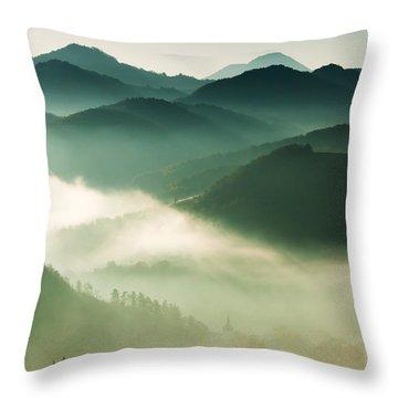Fairyland Morning Throw Pillow by Mircea Costina Photography