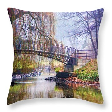 Fairytale Bridge Throw Pillow
