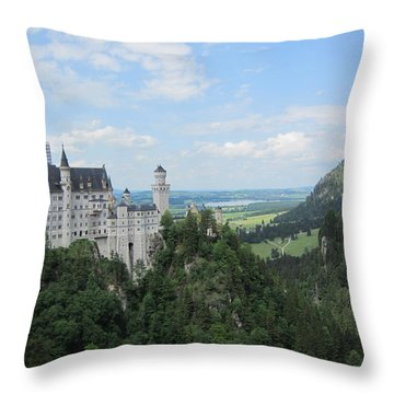 Throw Pillow featuring the photograph Fairytale Castle - 1 by Pema Hou