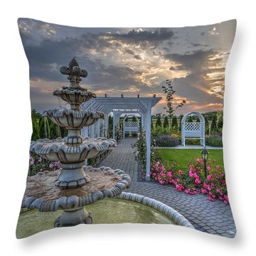 Throw Pillow featuring the photograph Fairytale Garden by Julis Simo