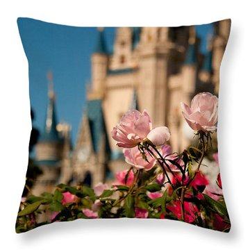 Fairytale Garden Throw Pillow