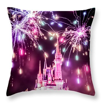 Fairytales Do Come True Throw Pillow by Sara Frank