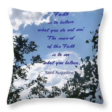 Faith Throw Pillow by Aimee L Maher Photography and Art Visit ALMGallerydotcom
