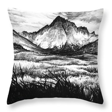 Throw Pillow featuring the painting Faith As A Mustard Seed by Aaron Spong