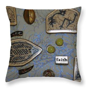 Faith Collage Throw Pillow