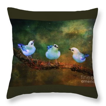 Faith Hope And Charity Throw Pillow by Lois Bryan