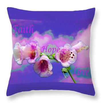 Faith-hope-love Throw Pillow