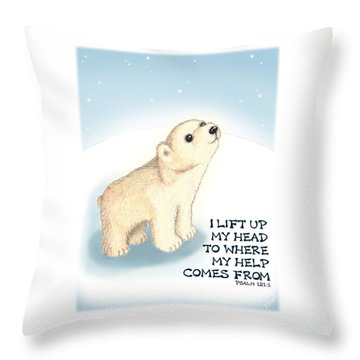 Faith Throw Pillow by Jerry Ruffin