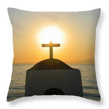 Throw Pillow featuring the photograph Faith by Leena Pekkalainen
