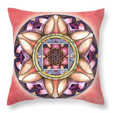 Faith Mandala Throw Pillow