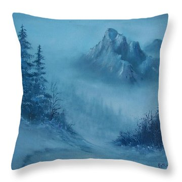 Faith Moves Mountains Throw Pillow