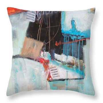 Throw Pillow featuring the painting Faith by Ron Stephens