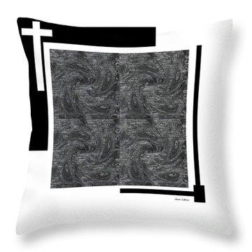 Throw Pillow featuring the digital art Faith by Ann Calvo