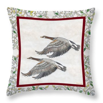 Throw Pillow featuring the drawing Faithful by Dianne Levy