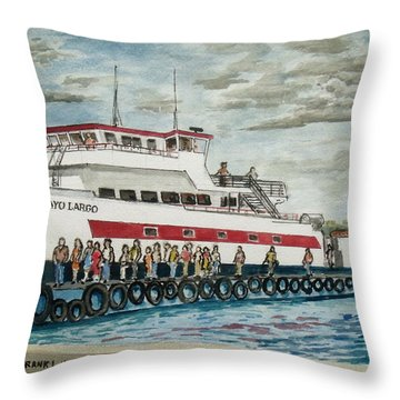 Fajardo Ferry From Vieques Puerto Rico Throw Pillow