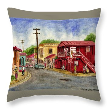 Fajardo Puerto Rico Throw Pillow by Frank Hunter