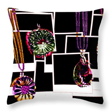 Fake Jewellery  Throw Pillow by Steve Taylor