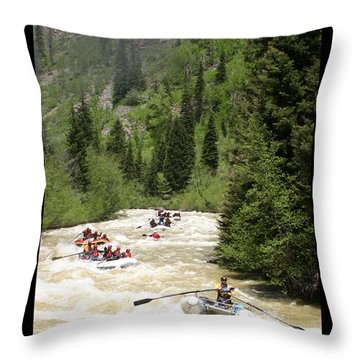 White Water Rafting On The Animas Throw Pillow