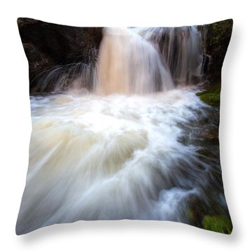 Throw Pillow featuring the photograph Fall And Splash by David Andersen