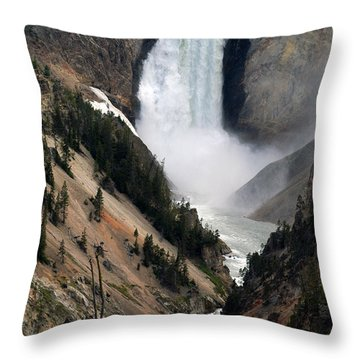 Fall And Stream In Yellowstone Throw Pillow
