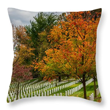 Fall Arlington National Cemetery  Throw Pillow by Gary Whitton