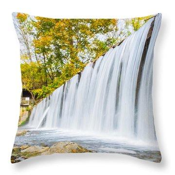 Fall At Buck Creek Throw Pillow