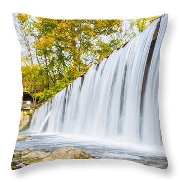 Fall At Buck Creek Throw Pillow