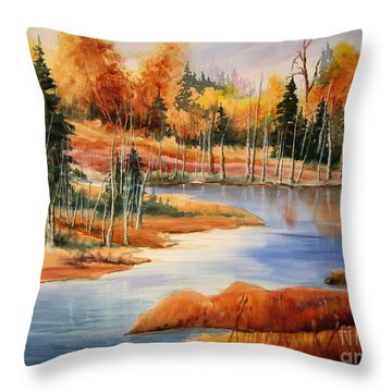 Fall At Elk Island  Throw Pillow by Mohamed Hirji