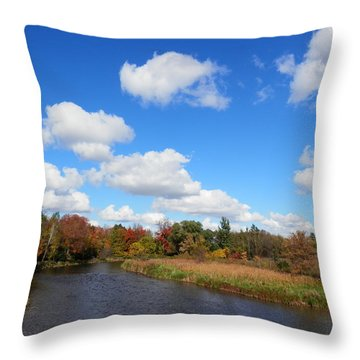 Fall At The Credit River Throw Pillow