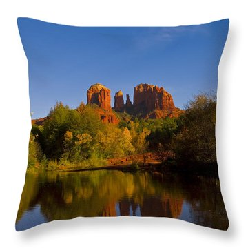 Throw Pillow featuring the photograph Fall At The Crossing by Tom Kelly