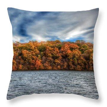 Fall At The Lake Throw Pillow