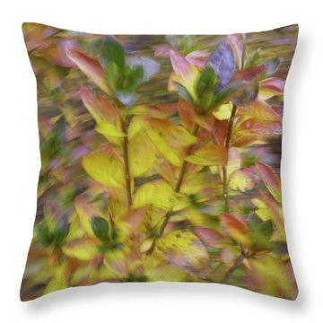 Autumn Azaleas 3 Throw Pillow