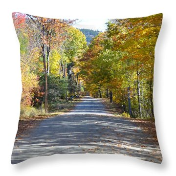 Fall Backroad Throw Pillow