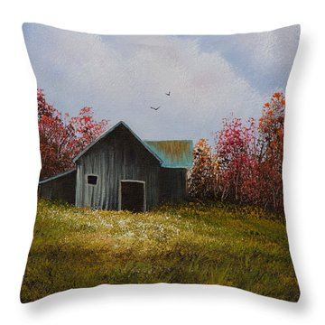 Fall Begins Throw Pillow by C Steele